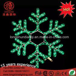 Navidad decoración exterior de la ventana de cristal de luz LED de copo de nieve