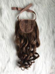 18pouce de queue de cheval 120gram Meilleure qualité de cheveux synthétiques fibres Kanekalon dorées de style ondulées Fashion Accessoires de cheveux cheveux artificiels de qualité supérieure