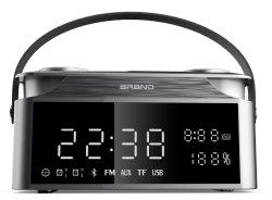 Haut-parleurs sans fil Bluetooth de l'horloge Portable Mini haut-parleur Bluetooth Smart