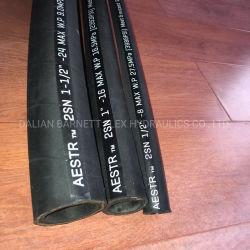 Hoge druk Duim Hose/3/8 6754-51-9810 SAE 100r2at van het Graafwerktuig van 3/4 Duim SAE100 R12/4sp/4sh de Hydraulische/2sn het Bestand Rubber van de Olie van de Vlecht van de Draad van het Staal van de Hoge druk
