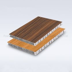 Grãos de madeira Painéis Compostos de favo de alumínio para decoração de móveis