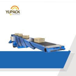 Kundenspezifisches Logistik-LKW-/Behälter-/Schlussteil-Laden/ausdehnbaren teleskopischen Bandförderer aus dem Programm nehmend mit Gewicht-anhebender und funktionierender Plattform für Beutel-Kartone