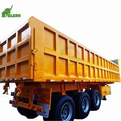 Le chargement de 60t 3 essieux Hyva semi-remorque de camion de vérin de benne de remorque du tracteur