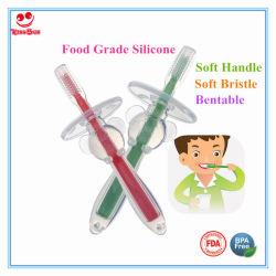 Primo Toothbrush del bambino più sicuro con il rilievo del silicone