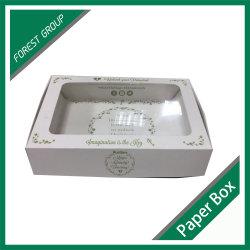 Papier plié blanc Candy Box avec fenêtre PVC