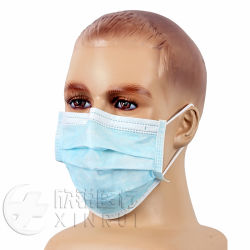 医学の使い捨て可能な保護は耳のループと外科マスクに3執ように勧める