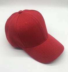 China Fabricante de fábrica de 5 o 6 panel DEPORTES Hat Rojo Blanco Gorra de béisbol