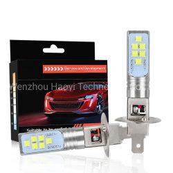 車は2PCS H1 LEDの球根の自動車運転のフォグランプ12 3535SMD極度の明るい1400lm 6000Kの白色光の高い発電H3 LED 12V 24Vの自動車ランプを分ける