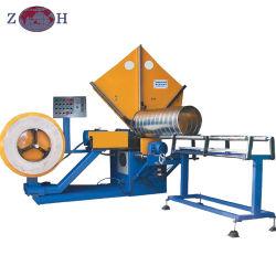 control PLC tubo espiral máquina de formación para la ventilación fin
