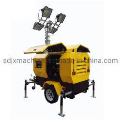 Utilisation de mines d'urgence de la tour lumineuse Mobile avec 4PCS 1000W lumière aux halogénures métalliques avec générateur diesel Kubota