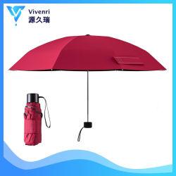 Kleiner faltender Miniregenschirm, Arbeitsweg-Regenschirm, Pocket Regenschirm, Geschenk-Förderung-Regenschirm für Dame