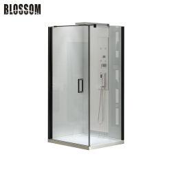 浴室単一のドアとの標準ガラス機構の黒のシャワーのキュービクルのサイズ