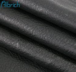 PU Litchi Korn Kunstleder reine Schwarz verschleißfest Imitationsleder Tasche Tasche Möbel Gürtel Leder Stoff Hersteller