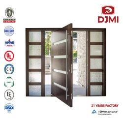 Entrada House portões de entrada de laminagem de madeira maciça Porta de vidro portão automático Armored composto de entrada do vidro da porta de segurança interior da porta de madeira portas de madeira da porta do Pivô