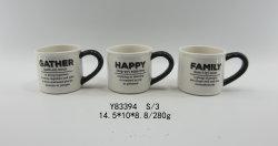 Desfrute de um bom tempo Cartas Adesivos Chá Cerâmica Alfabeto Café Stylesecurity concisa e capa de proteção ambiental