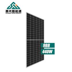 製造者25年の保証の高性能の太陽電池パネル6bbの太陽電池パネル430wattの太陽電池パネルの