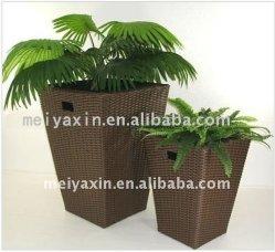 Mobiliário de exterior vaso de flores em vasos de bambu de vime vasos de piso de vime