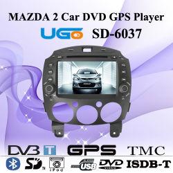 Aluguer de DVD leitor de navegação GPS para Mazda 2 (DP-6037)