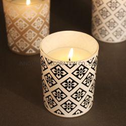 部屋のための幾何学的で簡単な香りの蝋燭200gの大豆のワックスの蝋燭