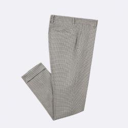 Os tecidos de algodão 100% Semi Calça casual com material reciclado