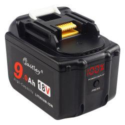 18V 9.0ah Bl1890 сменный аккумулятор совместим с Makita Bl1830 Bl1840 Bl1850 Bl1860 Bl1890 Lxt Li-ion аккумулятор инструменты со светодиодным индикатором