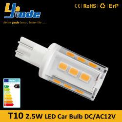 Hersteller wärmen weiße kühle weiße Birne des Auto-Gebrauch-2.5W T20 des Keil-LED