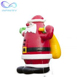 맞춤형 제작 산타 조항 크리스마스 팽창식 광고 제품 변치 가능한 크리스마스 축제를 위한 산타 가든 장식