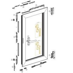 نظام النافذة القياسية لنافذة أداة إمالة الإطار في أوروبا 3H المصنع Nxc06