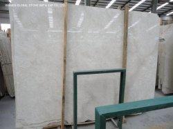 Dalles en pierres naturelles polies concurrentiel de la Turquie en marbre beige populaire White Rose pour les carreaux de plancher intérieur mur comptoirs