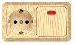Interruptor de pared eléctrica y el zócalo de Europa Alemania Tipo de montaje en superficie en la toma de contacto