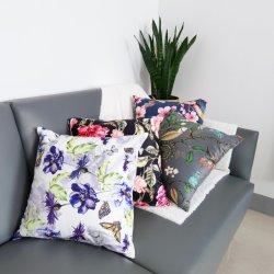 زخرفات وزهرة صيف رمية مطبوعة خصيصا أغطية الوسائد أريكة يمكن تحويلها إلى سرير