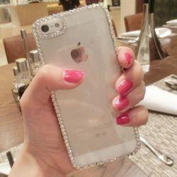Einfacher Kristallrhinestone-Diamant-Großhandelskasten für iPhone 4/4s