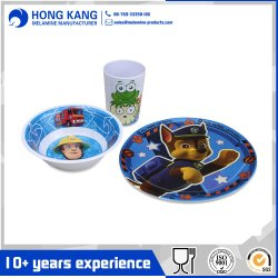 Logotipo personalizado vajillas de melamina cena producto de uso diario