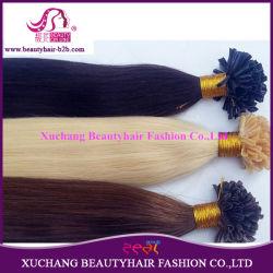 卸し売りブラジルのバージンのRemiの前担保付きの毛、ケラチンは、平らな毛の拡張使用できるあらゆるカラーUひっくり返たり、私ひっくり返たり、ネイリングする(LU-1305)