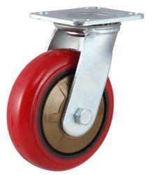 鋳鉄の足車の頑丈な旋回装置韓国PU