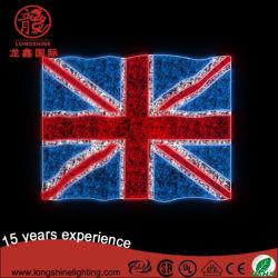 Reino Unido Europeu levou a Bélgica em forma de bandeira Pole Street Luz de modelização para decoração Dia Nacional