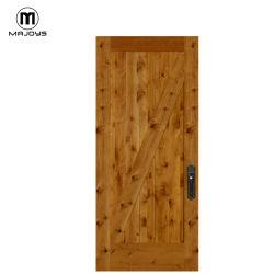 باب من خشب الغاب ذو تصميم خشبى ماهوجنى لباب المنزل