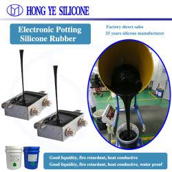 Hy boa aderência à base de platina resistentes ao congelamento à prova de encapsular retardante de chama com vedante de borracha de Silicone Transparente RTV2