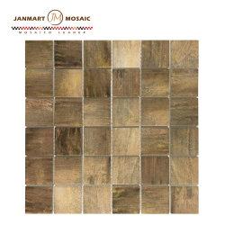 Material de construcción de color dorado de la pared interior de la baldosa mosaico de vidrio laminado