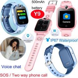 IP67 방수 2G 어린이 선물 안전 어린이 추적기 GPS 시계 SOS 긴급 출동 Y9