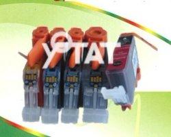 Pgi-220bk Ink Cartridge with New Chip Compatible Canon  (PGI-220BK CLI-221BK CLI221C CLI-221M CLI-221Y)