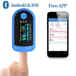Oximeter Bluetooth Blut-Sauerstoff-Sättigungs-Monitor, Blut-Glukose-Prüfvorrichtung, Finger-Impuls-Beschwichtigungsmittel-Impuls-Monitor-Fingerspitze-Impuls-Oximeter