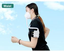 Filtro elettrico coperchio del viso purificazione dell'aria filtrazione riciclabile per adulti e bambini Maschere parapolvere riutilizzabili di protezione