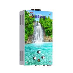 Fabricante Wholesales bonito diseño de panel de cristal 3D de 6 litros de Gas instantáneo Geyser