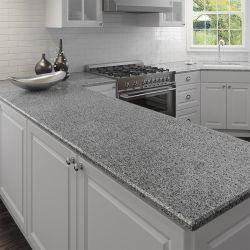 سطح طاولة المطبخ الطويل سطح طاولة عمل باللون الرمادي البني الأبيض