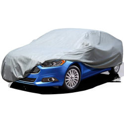Agua anti polvo Univesal cubierta de automóvil sedán de tamaño mediano