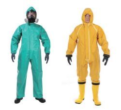 Vêtements de protection réutilisables contre les produits chimiques/combinaison de protection/combinaison anti-éclaboussures de produits chimiques en PVC avec ce Certificat