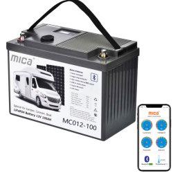 5 anos de garantia Industrial 12V 100Ah Black Smart Battery System LiFePO4 Pilha Bluetooth com função de monitorização