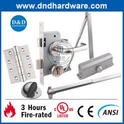 ステンレス鋼ULのセリウムの火の金属および木の内部ドアのための評価されるドアのハードウェアの建物のハードウェア