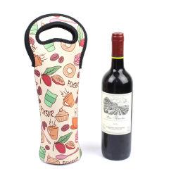 Складные наушники для повторного использования логотипа неопреновые Рождество пластиковые брелоки вино сумка для бутылочек